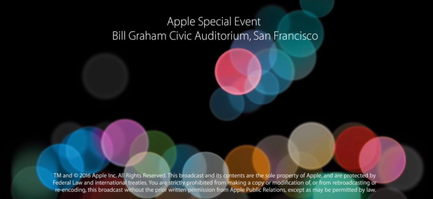 Keynote Apple iPhone 7 YouTube