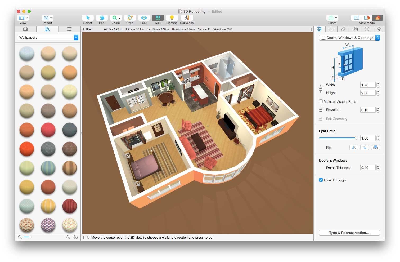 Live home 3d il software per arredo di interni e piantine for Programmi per progettare oggetti