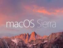 macOS Sierra arriva il 20 settembre