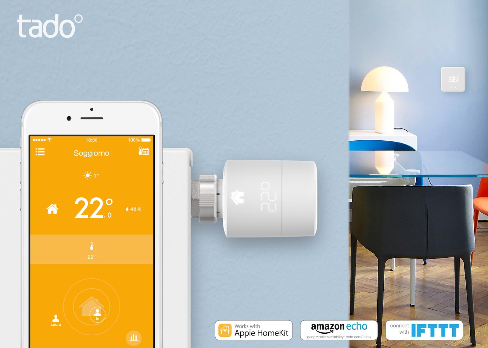 tado° compatibili homekit valvole termostatiche intelligenti