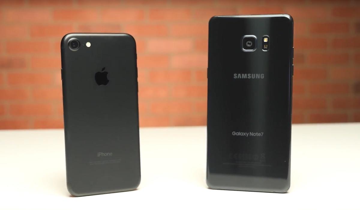 Test velocità iPhone 7 supera e doppia Galaxy Note 7 nell'impiego reale