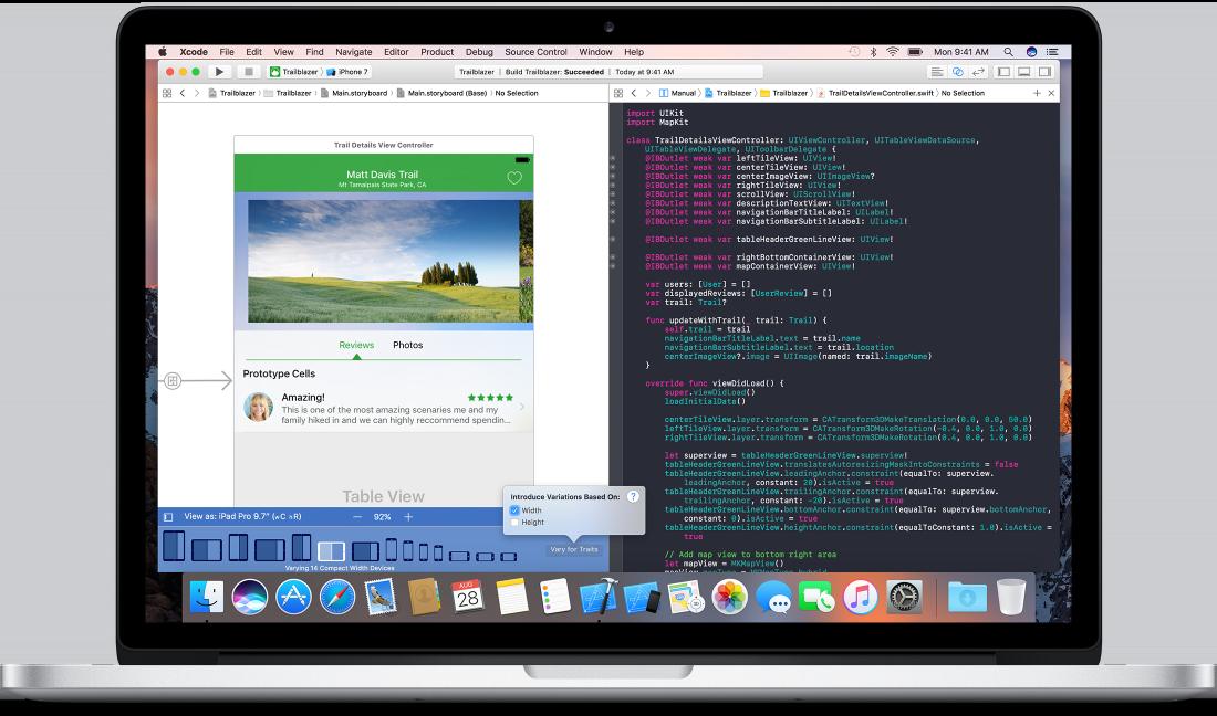 Xcode per ipad, foto xcode su mac