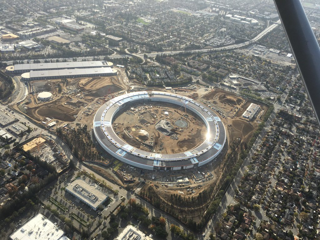 apple campus 2 foto aerea