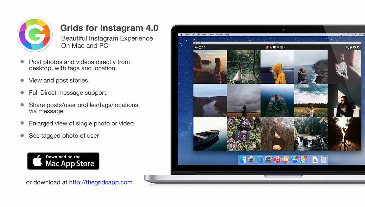 Grids 4 Instagram su Mac