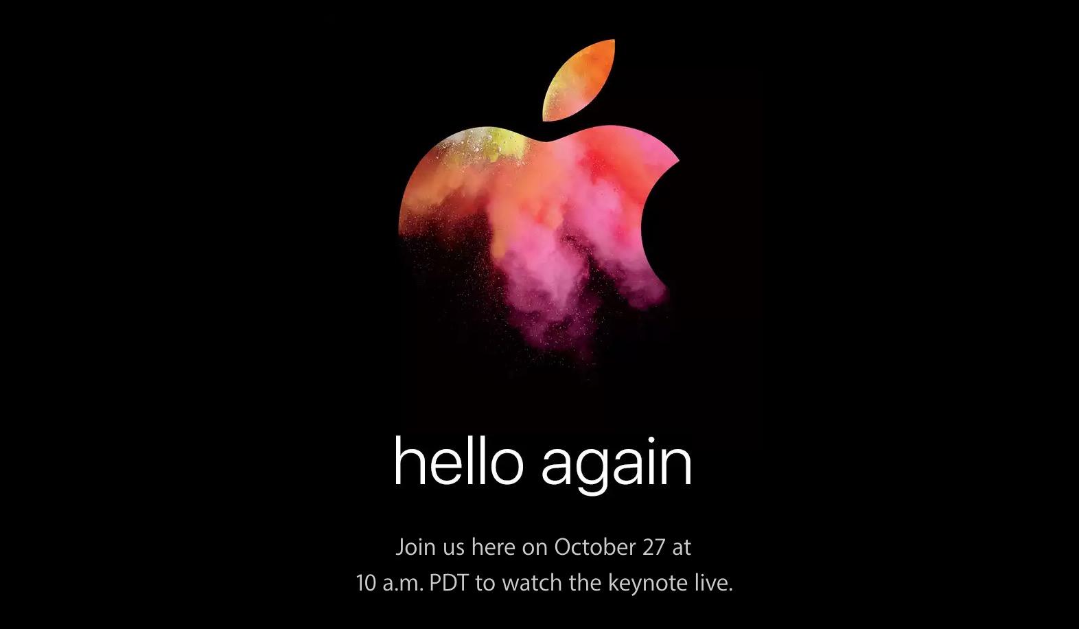 Keynote Apple 27 ottobre hello-again