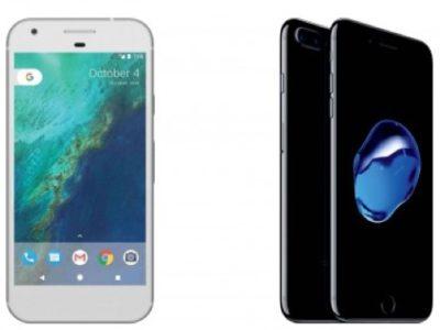iPhone 7 contro Google Pixel icon 800