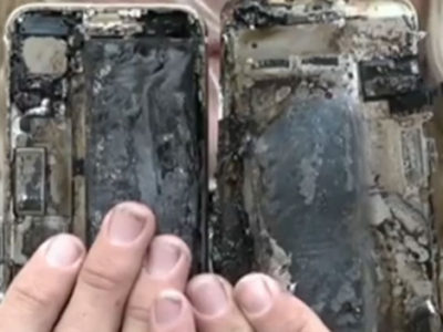 iPhone 7 fuoco