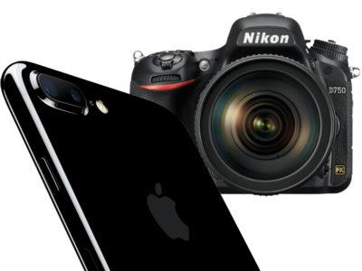 iphone 7 plus vs nikon 750