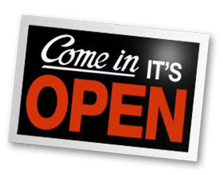 It's open