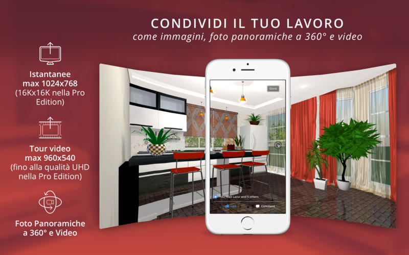 live home 3d 3 1 esporta video a 360 gradi e supporta la touch bar. Black Bedroom Furniture Sets. Home Design Ideas