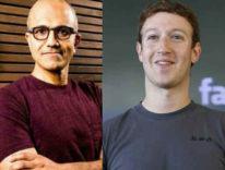 Nadella e Zuckerberg