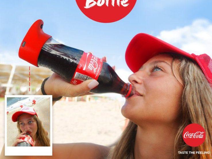 coca cola selfie bottle 1
