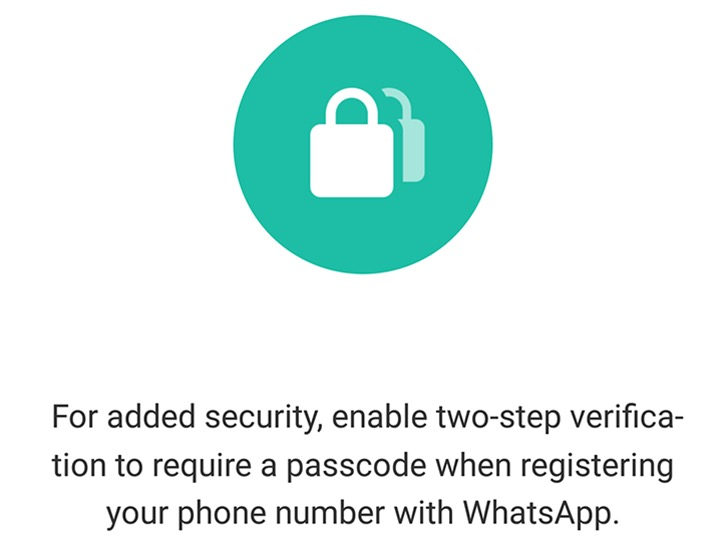 doppio fattore di autenticazione whatsapp