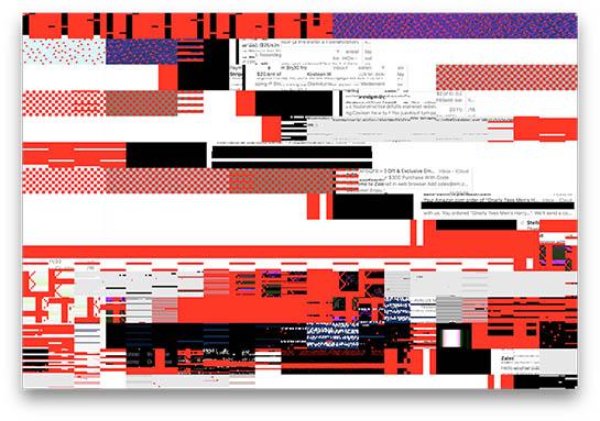 Esempio di artfefatti mostrati sullo schermo
