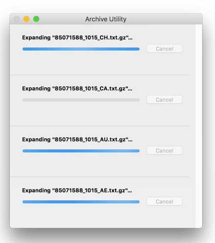 decomprimere file terminale 1000 volte più veloce