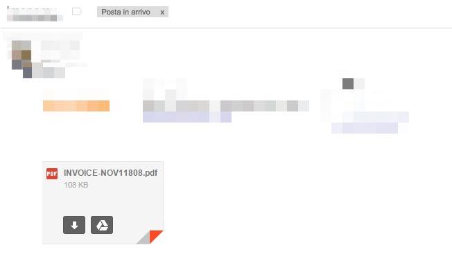 falso allegato pdf su gmail per phishing