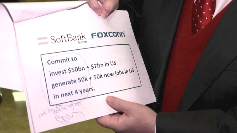 foxconn e softbank donald-trump-800-cnbc