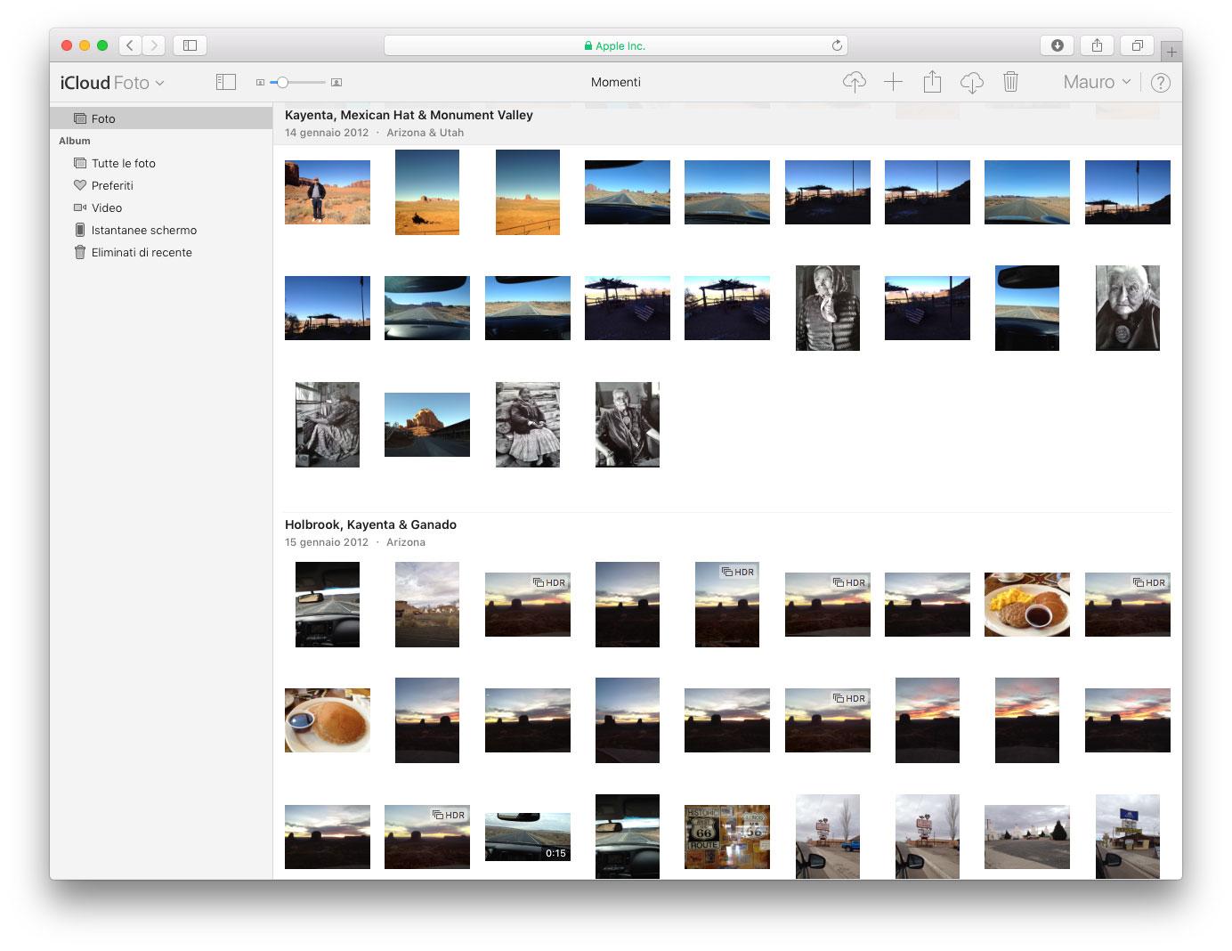 foto su iCloud Esempio