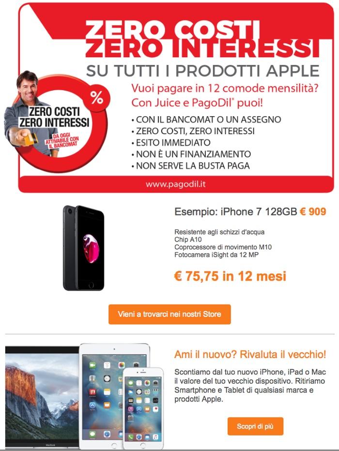 iphone finanziamento senza busta paga