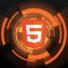 logo html5 su sfondo geometrico arancione