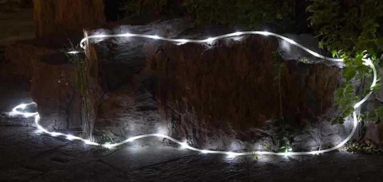 Lampade e catene di luci led per natale e vetrine dei - Luci a batteria per esterni ...