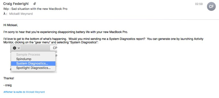 problemi autonomia macbook pro 2016 mail-federighi
