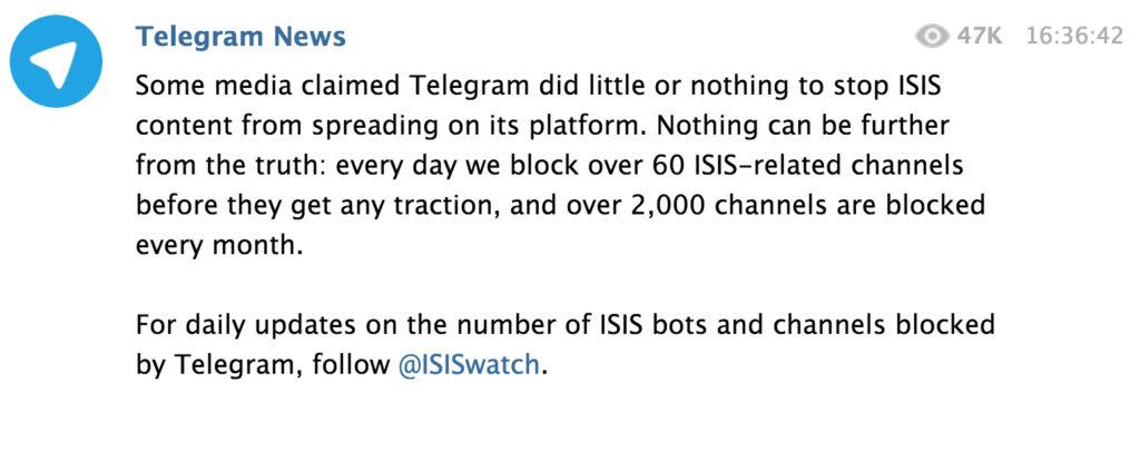 telegram-isis