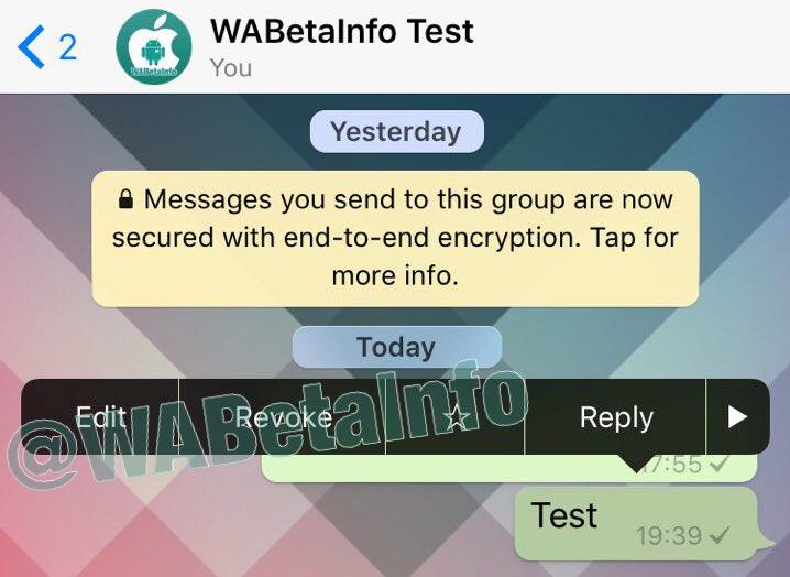 whatsapp revoca