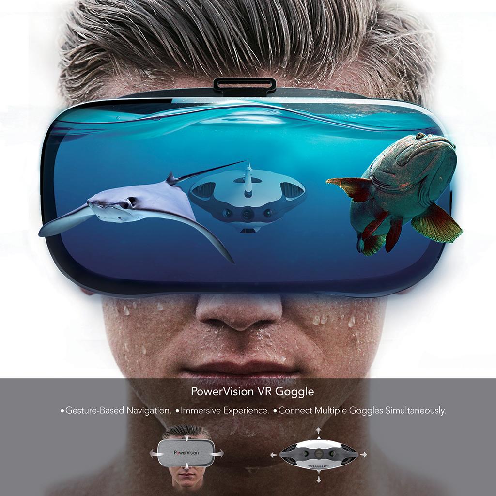 drone subacqueo PowerVision VR Goggle