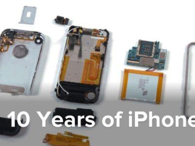 10 anni di iPhone primo iphone smontato