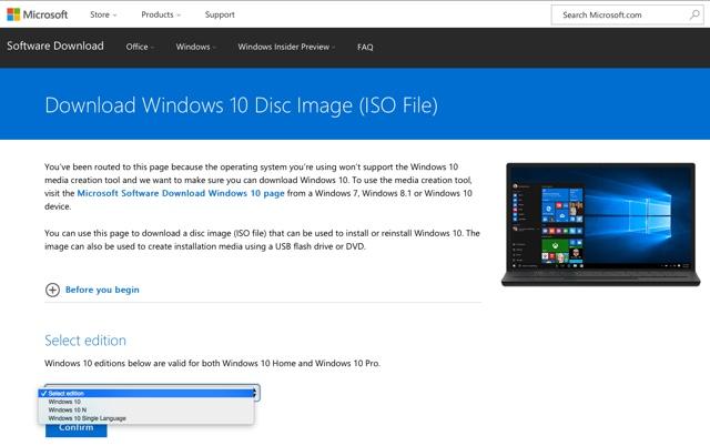 gratis windows 10 iso
