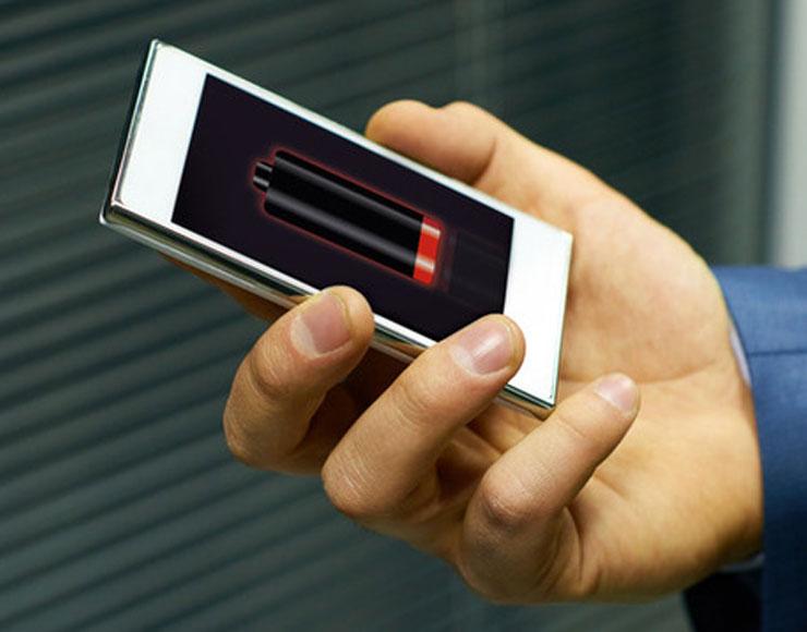 gestione dell'alimentazione - foto terminale con batteria in riserva