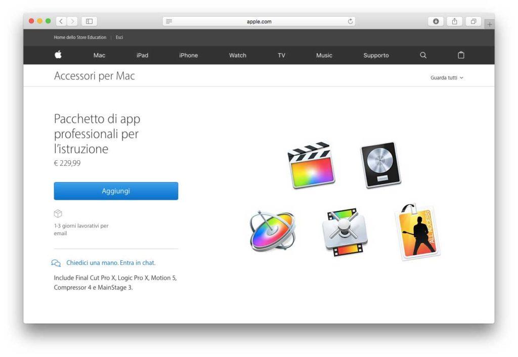 Pacchetto app