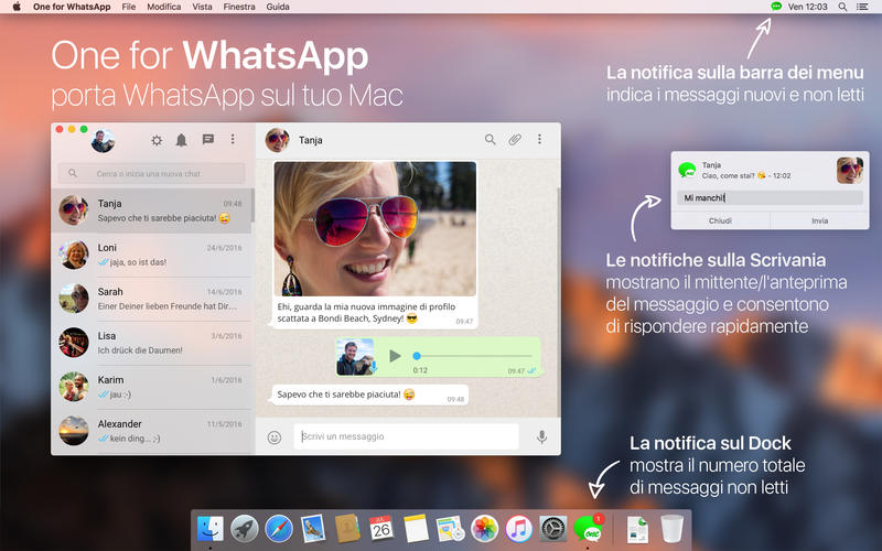 WhatsApp per Mac