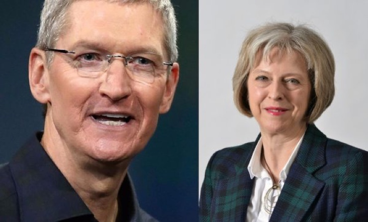 tim cook theresa may