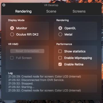 vr settings-rendering