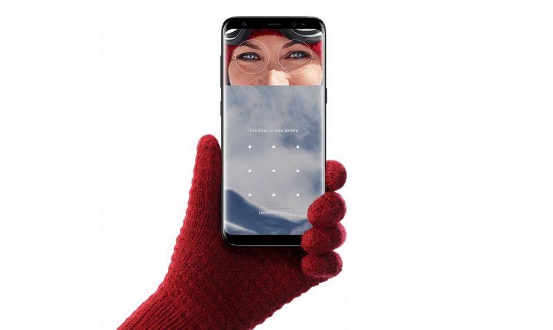 riconoscimento volto Galaxy S8