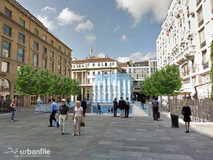 Apple Store Milano rendering Apple Store Milano