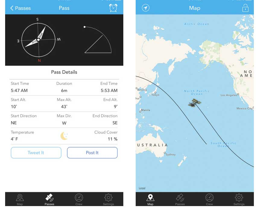 iss finder app ios