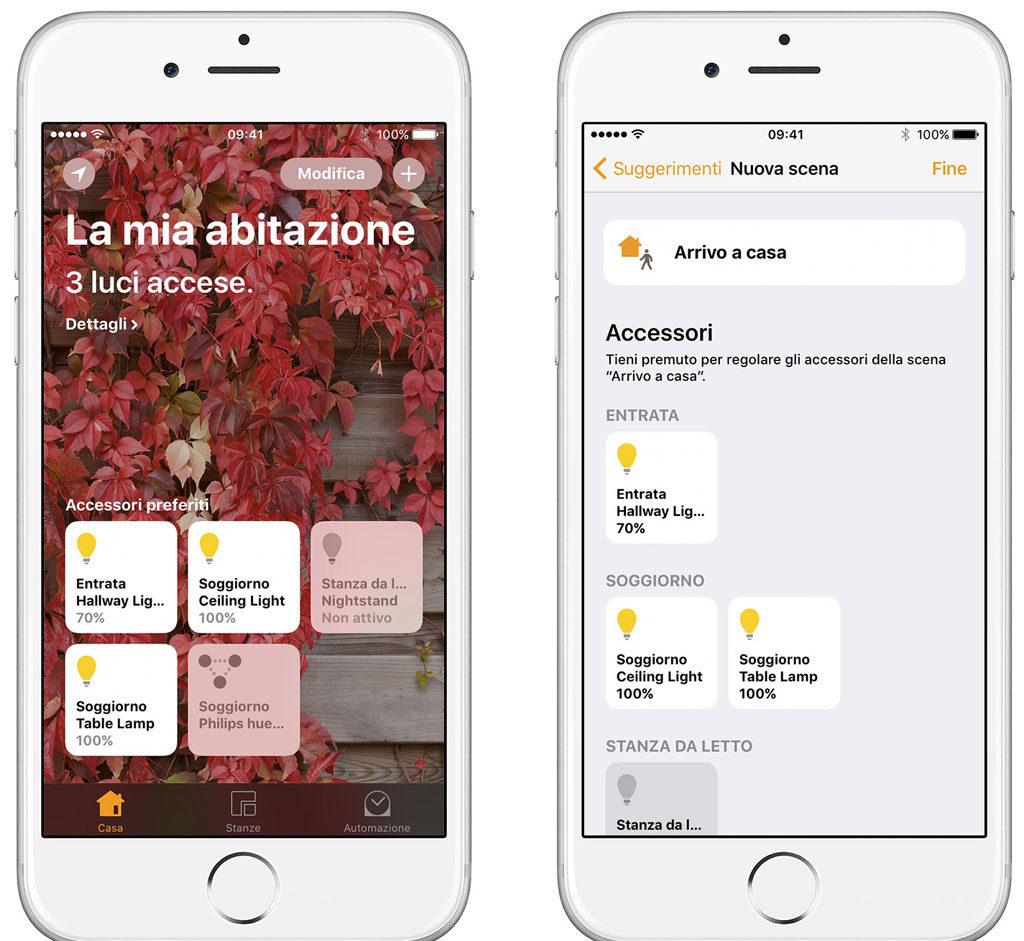 Esempio uso app Casa