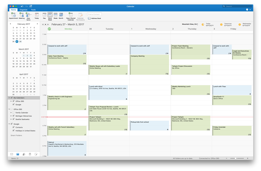 Outlook per Mac preview