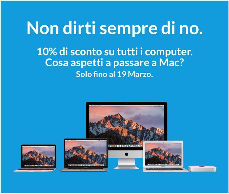 r-store 10% sconto 10 tutti mac