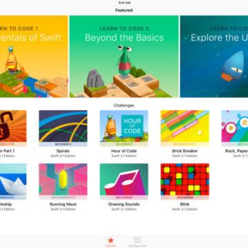 Swift Playgrounds ipad 1