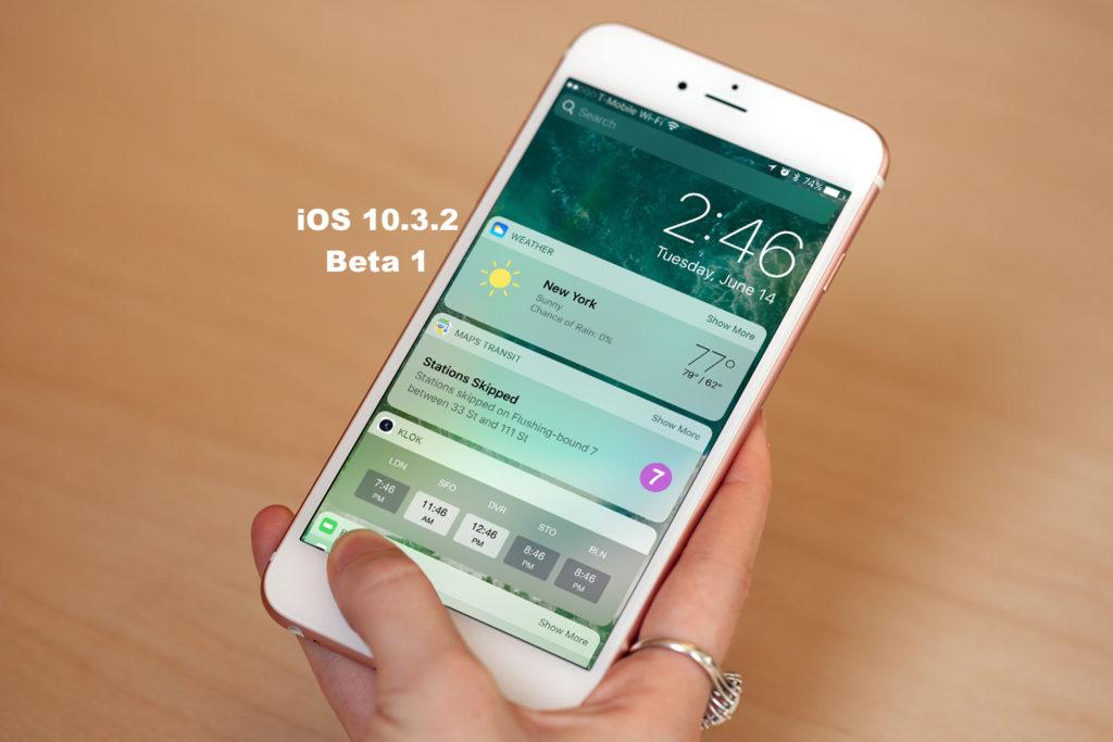beta 1 iOS 10.3.2