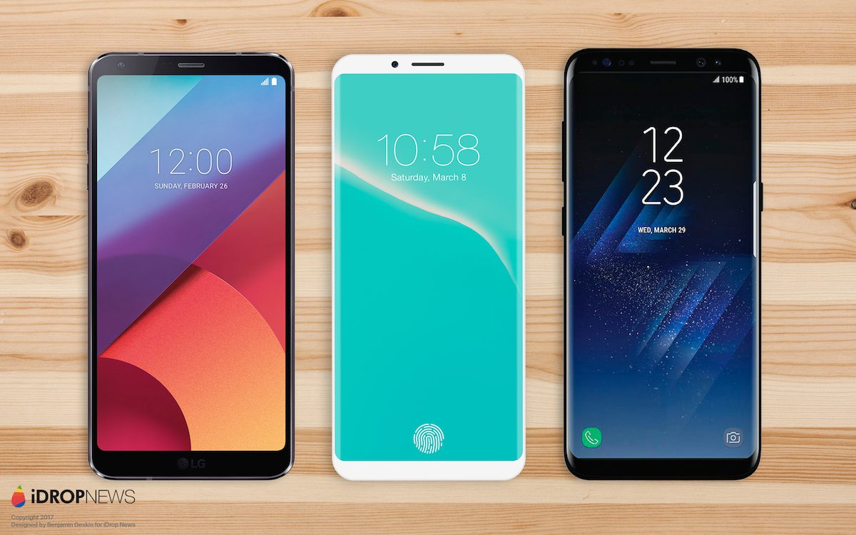 63d162c5b Nuovo concept iPhone 8 immaginato a metà tra LG G6 e Galaxy S8