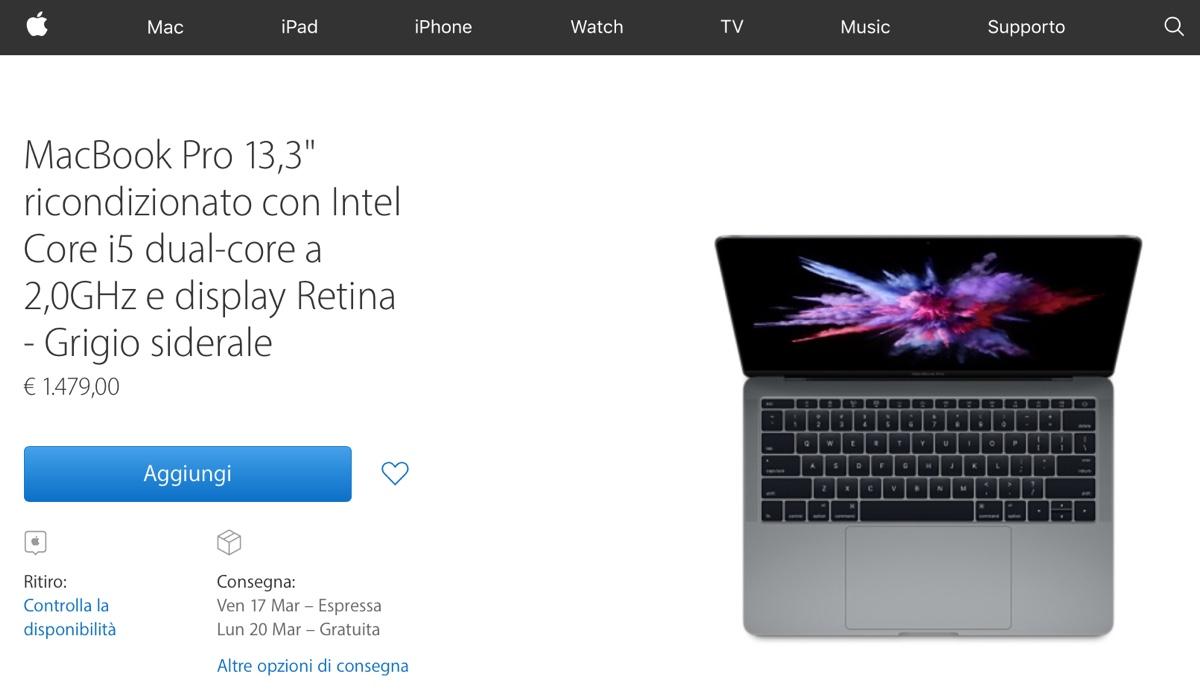 mac ricondizionati macbook pro 2016 ricondizionati 2