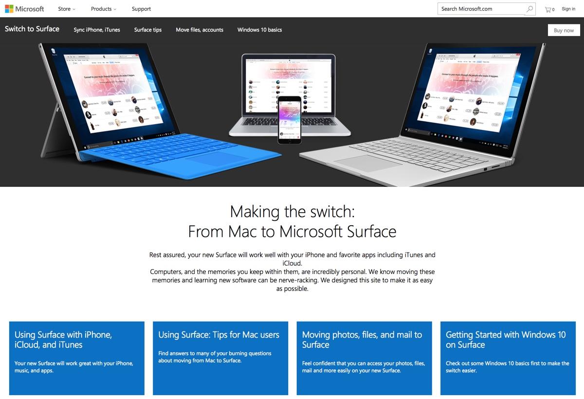 migrare da Mac a Surface sito