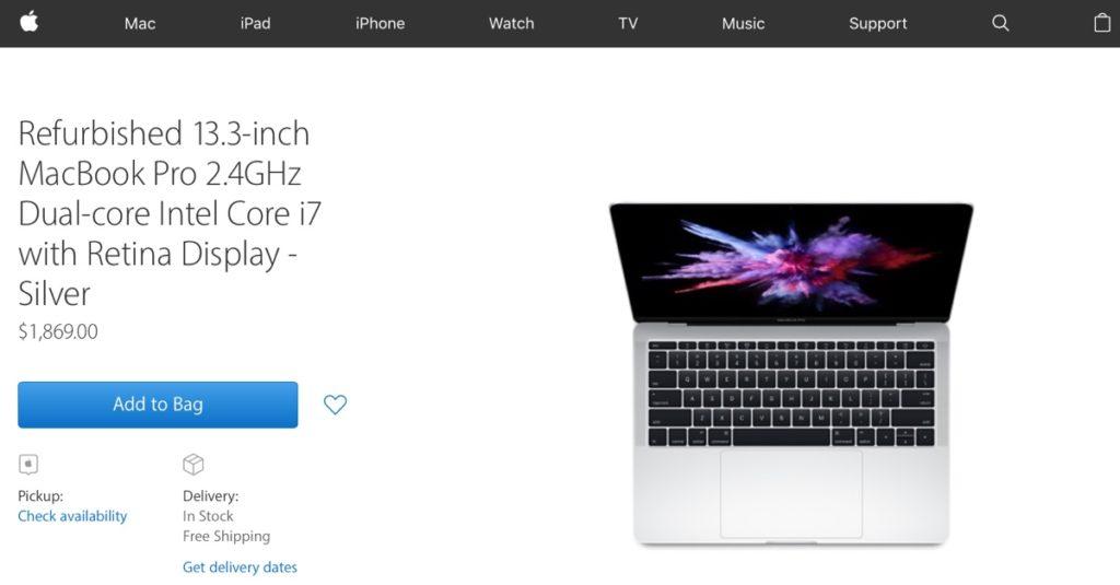 MacBook Pro 2016 ricondizionati usa