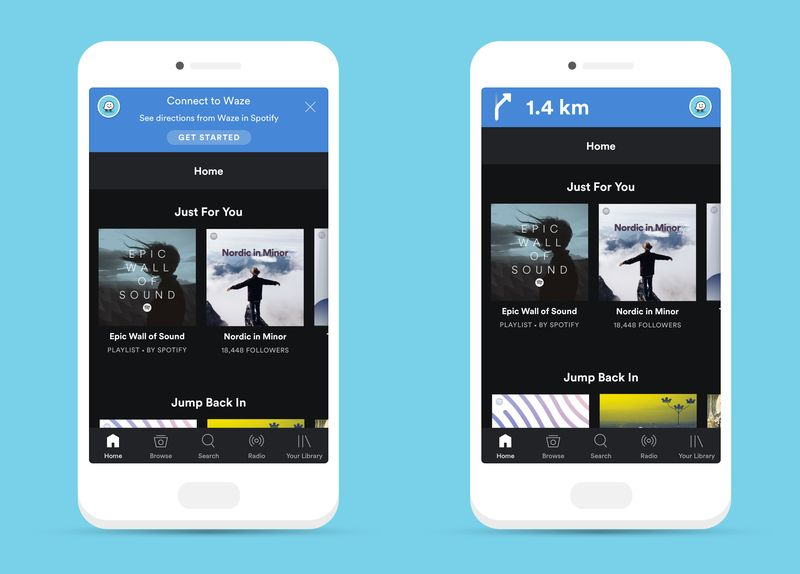 Waze e Spotify