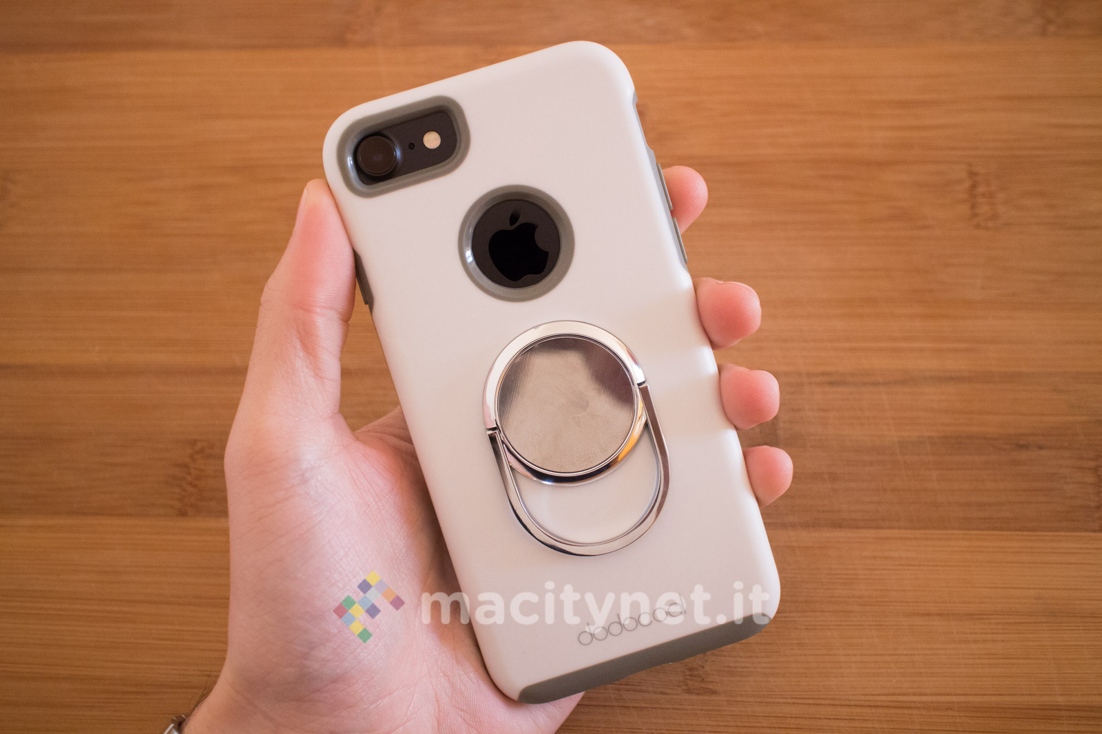 custodia iphone x con gancio